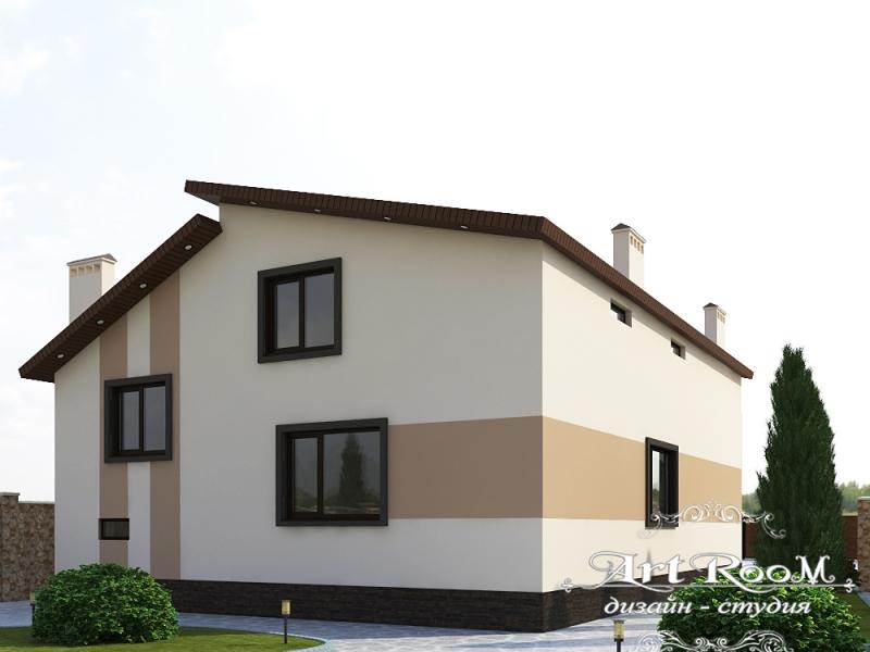 3D Визуализация фасада дома 2 Нагорная 30  №2
